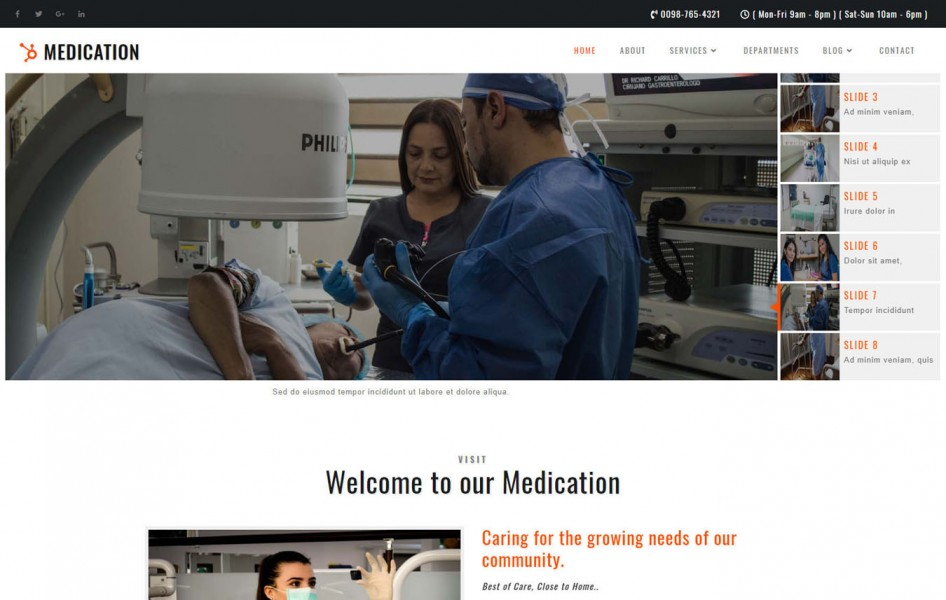 Medication Medical Category Bootstrap Responsive Web Template