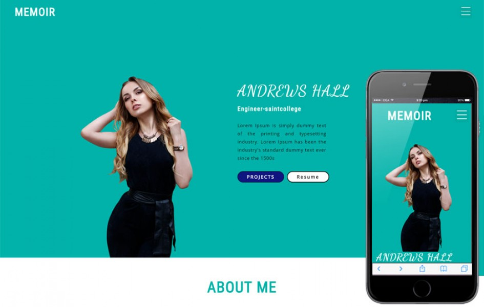 Memoir personal Category Bootstrap Responsive Web Template