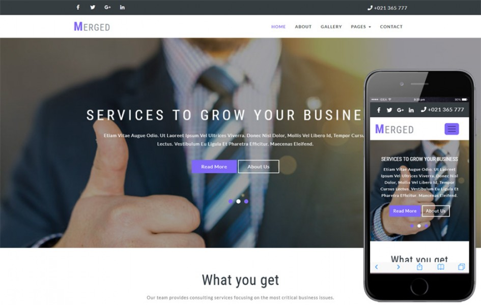 Merged Corporate Category Bootstrap Responsive Web Template