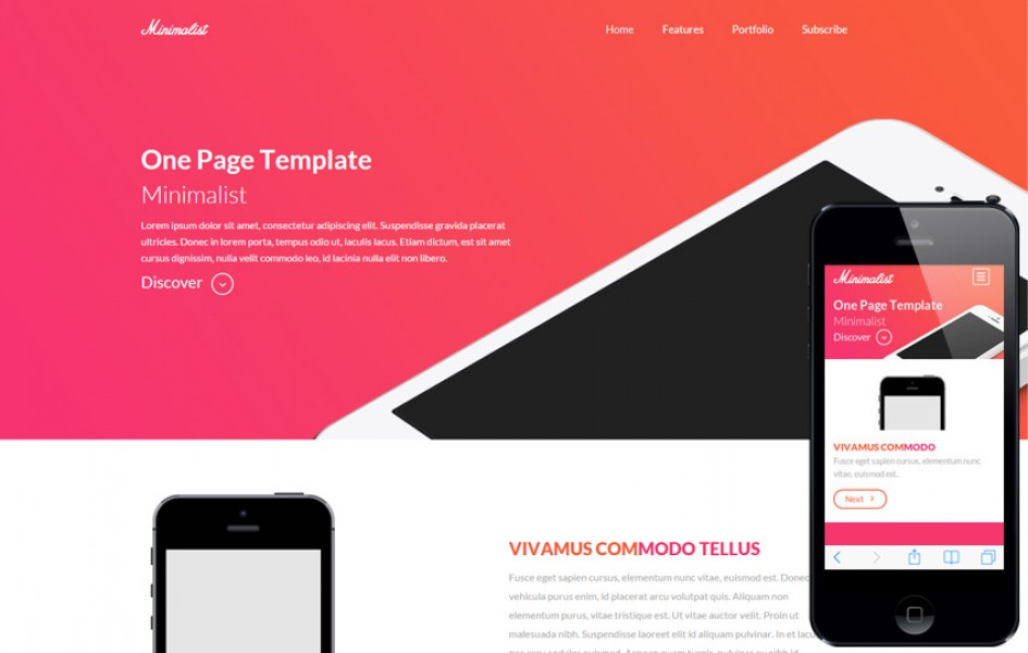 Minimalist a One Page Multipurpose Flat Bootstrap Responsive Web Template