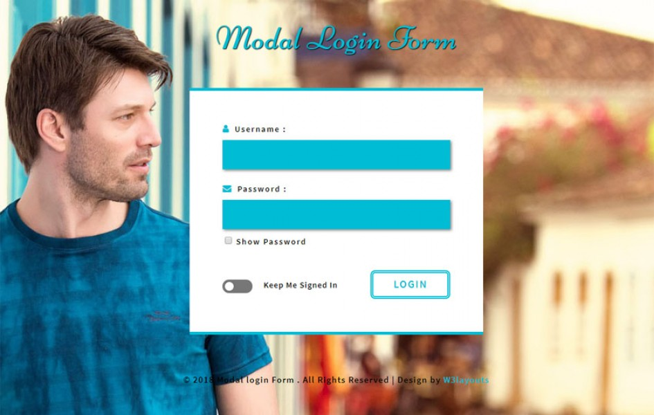 Modal Login Form Flat Responsive Widget Template