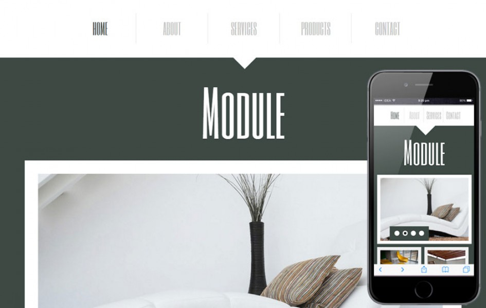 Module a Interior Architects Mobile Website Template