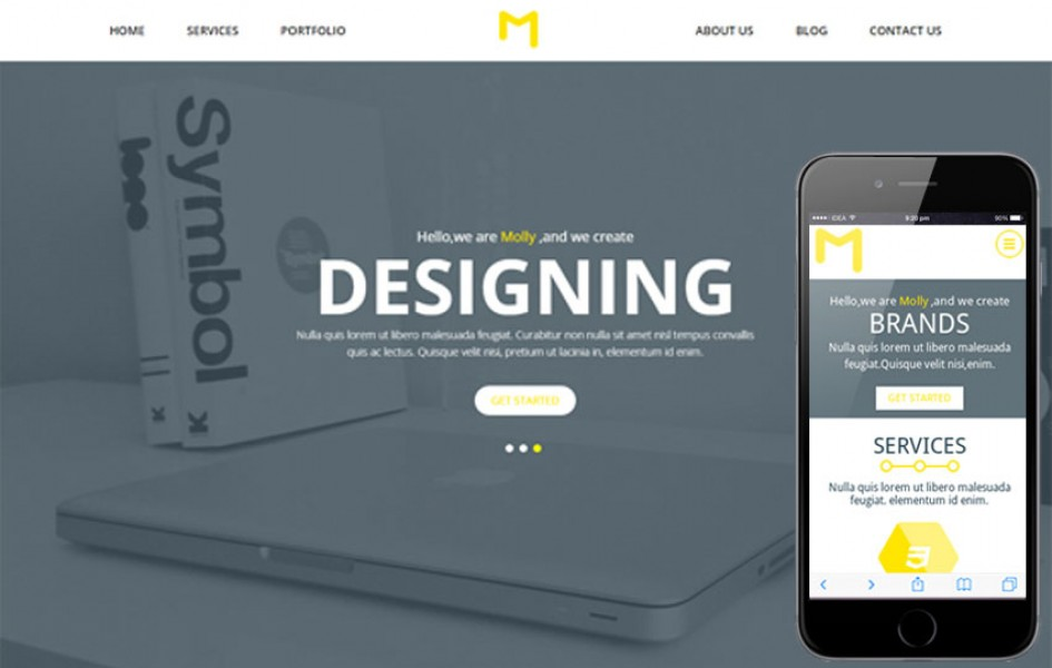 Molly a Single Page Multipurpose Flat Bootstrap Responsive Web Template