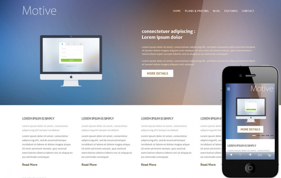 Motive Corporate Flat Responsive Web Template