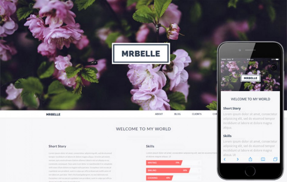 Mr Belle a Single Page Multi Purpose Flat Bootstrap Responsive Web Template