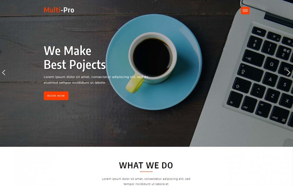 Multi-Pro a Landing Page Category Bootstrap Responsive Web Template
