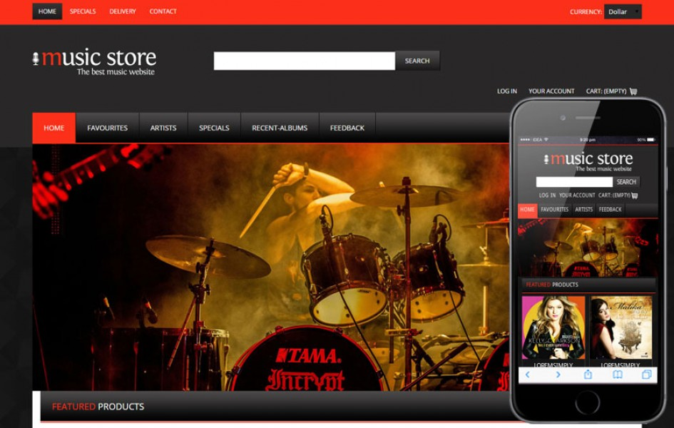 Music Mobile Website Template