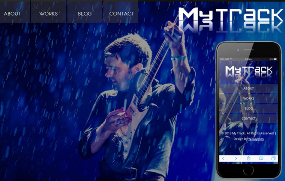 MyTrack Personal Portfolio Mobile Website Template