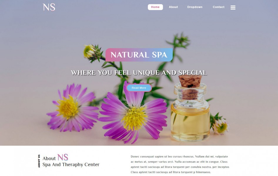 Natural Spa Spa Category Bootstrap Responsive Web Template