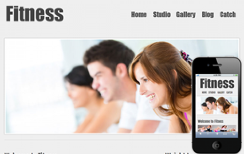 New Fitness Web and Mobile Template for Free