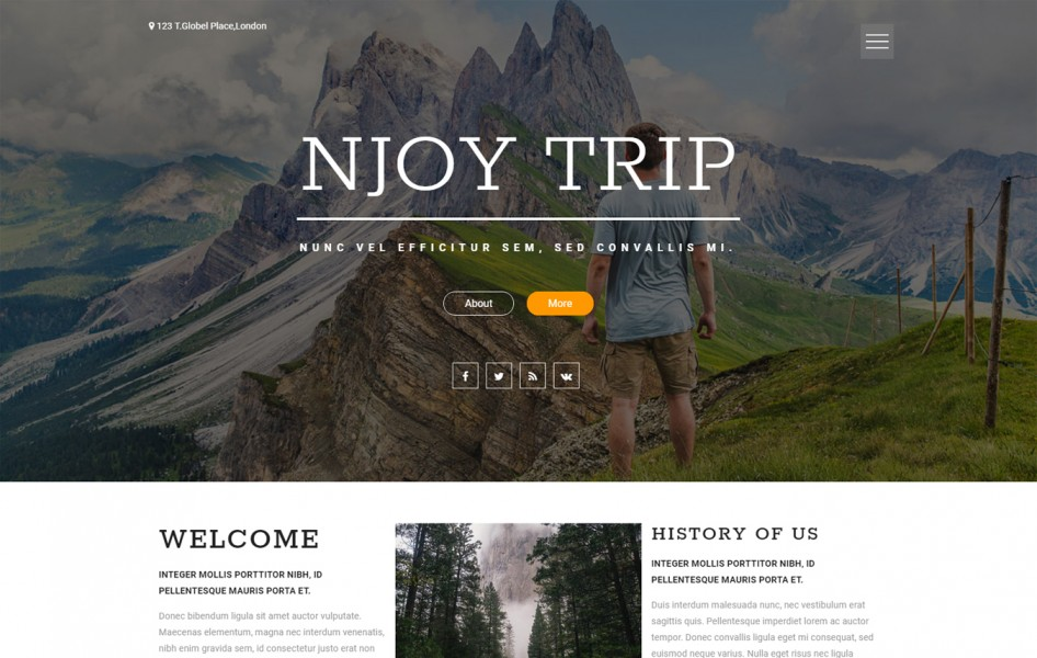 Njoy Trip a Travel Category Flat Bootstrap Responsive Web Template