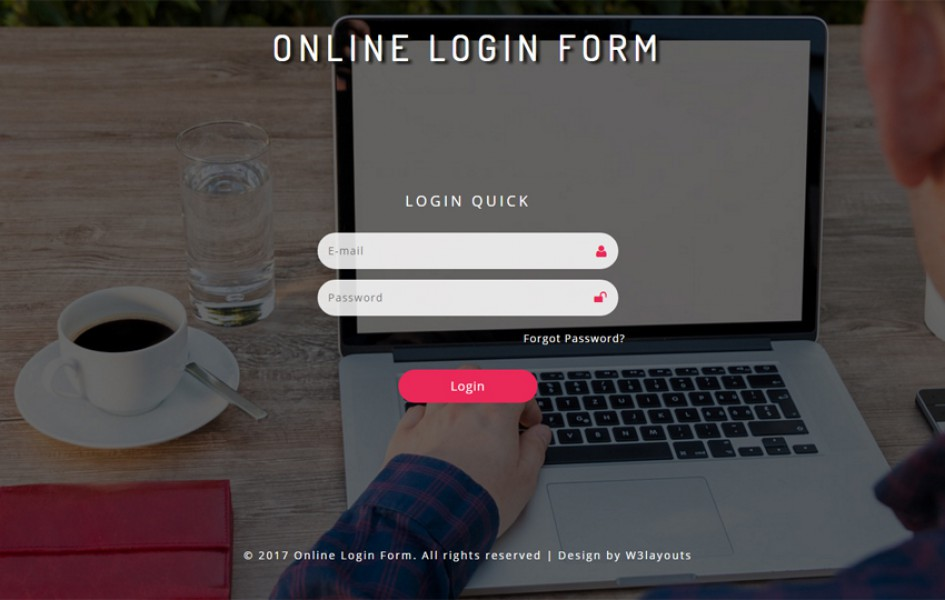 Online Login Form Responsive Widget Template