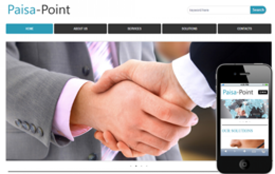 Paisa Point Web and Mobile Template for Free