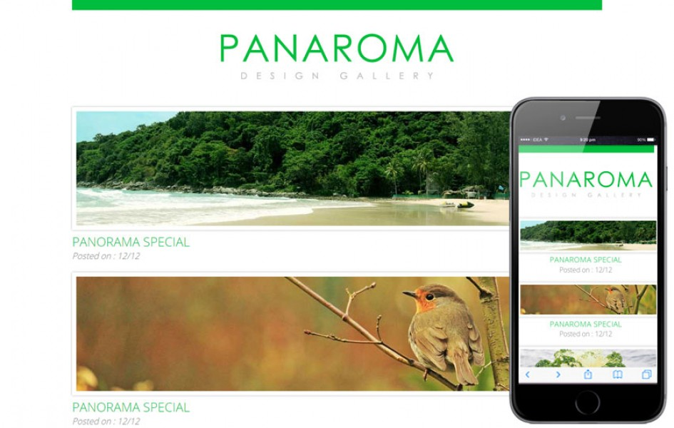 Panaroma Web and Mobile Template for Free