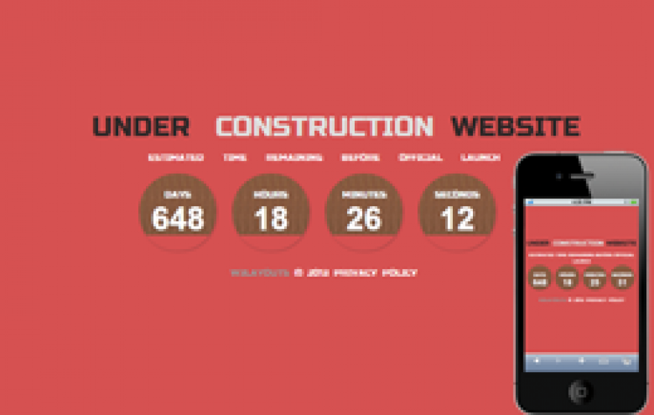 Pearl Under Construction Web and Mobile Website Template for Free