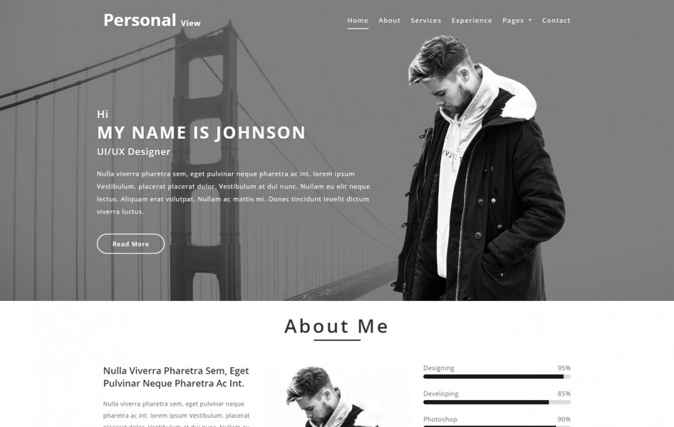 Personal View Personal Category Bootstrap Responsive Web Template