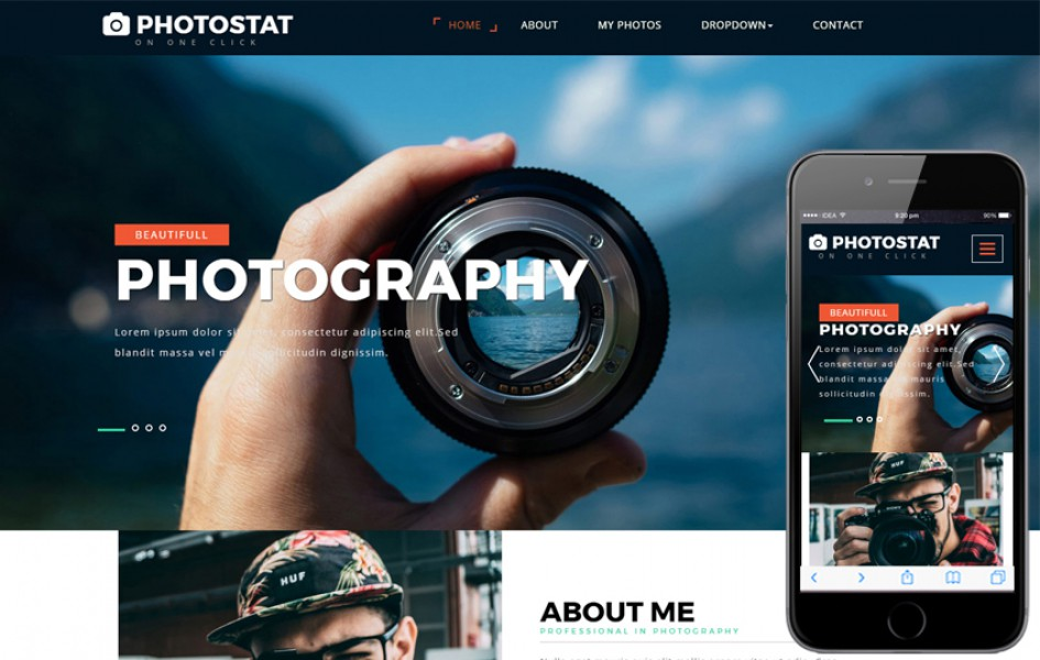 Photostat a Photo Gallery Category Bootstrap Responsive Web Template