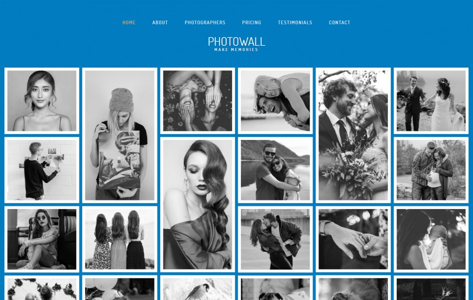 PhotoWall Photo Gallery Category Bootstrap Responsive Web Template