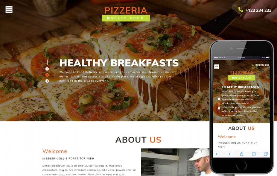 Pizzeria a Food Category Bootstrap Responsive Web Template