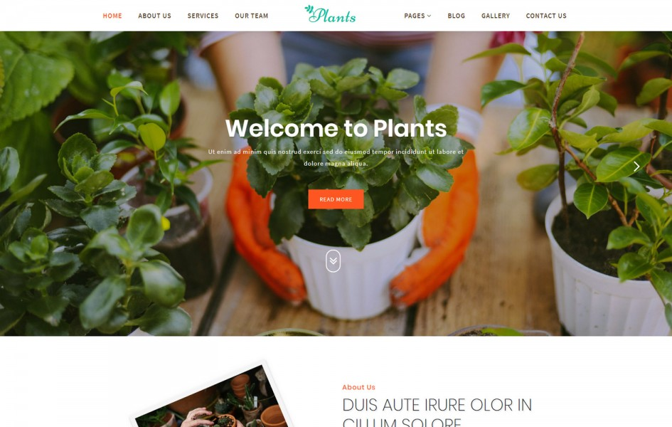 Plants an Agriculture Category Bootstrap Responsive Web Template