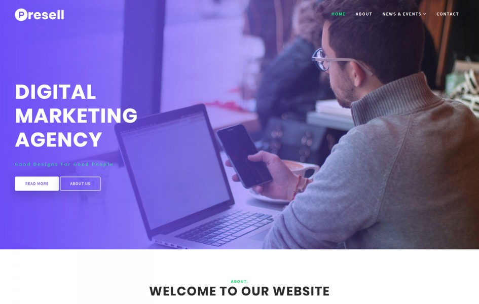 Presell Business Category Bootstrap Responsive Web Template