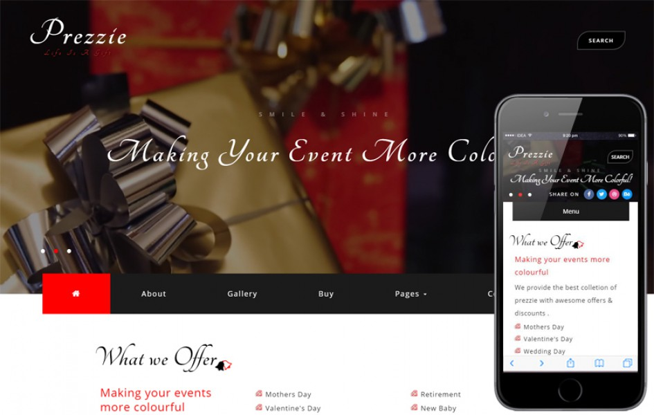 Prezzie an Online Shopping Category Bootstrap Responsive Web Template