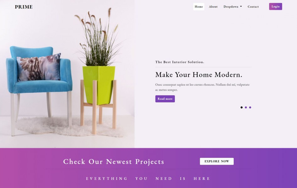 Prime Interior Category Bootstrap Responsive Web Template