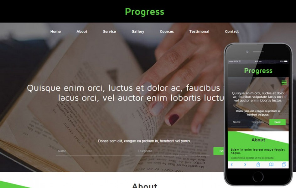 Progress a Educational Category Flat Bootstrap Responsive web template