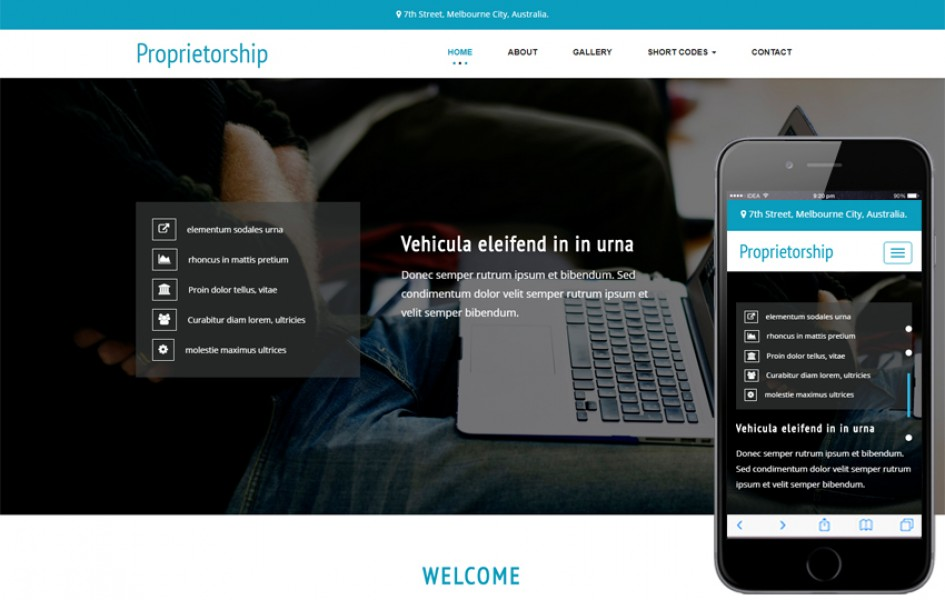 Proprietorship a Corporate Category Bootstrap Responsive Web Template