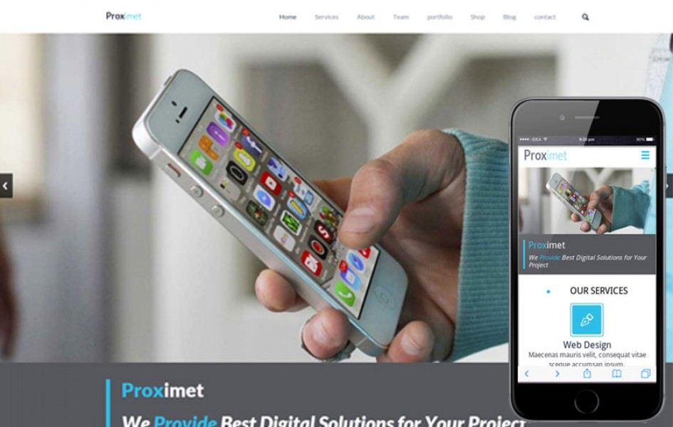 Proximet a Single Page Multipurpose Flat Bootstrap Responsive Web Template
