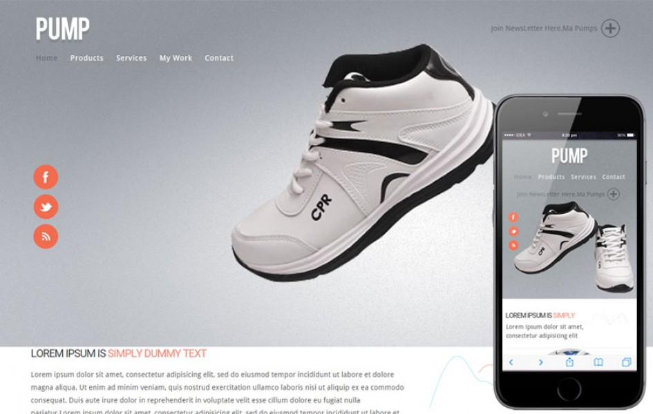 Pump E-commerce Responsive Web Template