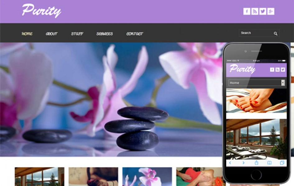 Purity Beauty Parlour Mobile Website Template