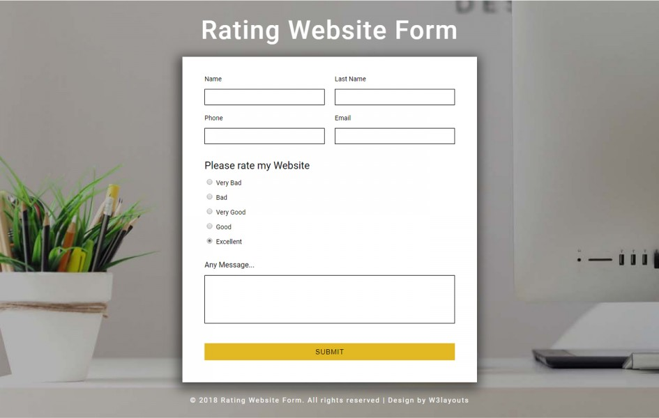 Rating Website Form Responsive Widget Template