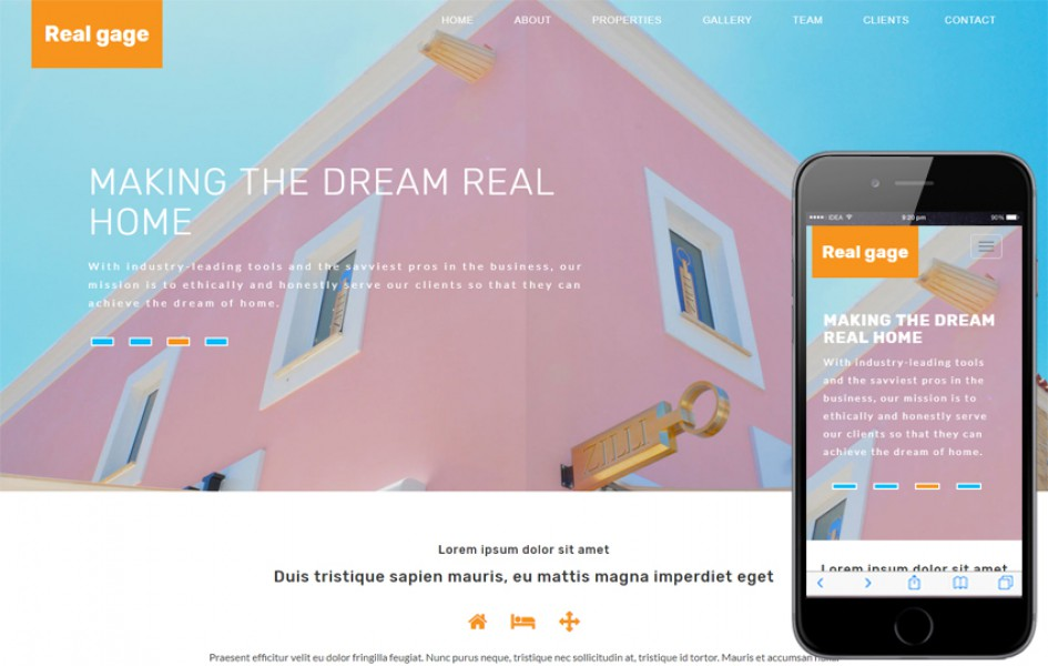 Real Gage Real Estate Category Bootstrap Responsive Web Template