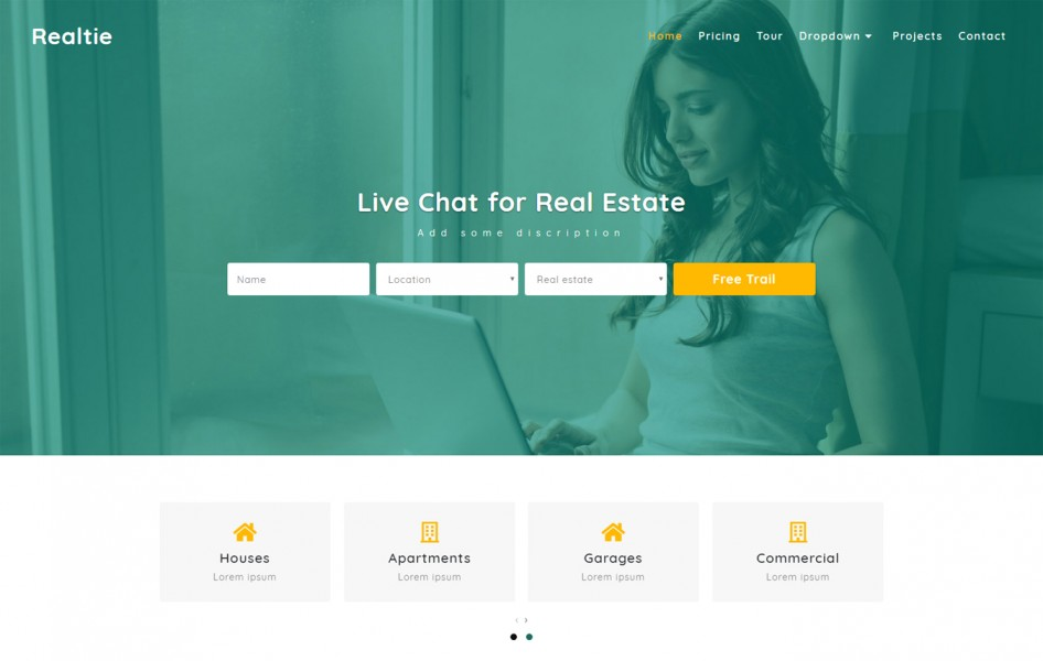 Realtie Real Estate Category Bootstrap Responsive Web Template