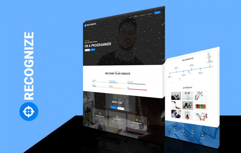 Recognize Personal Category Bootstrap Responsive Web Template