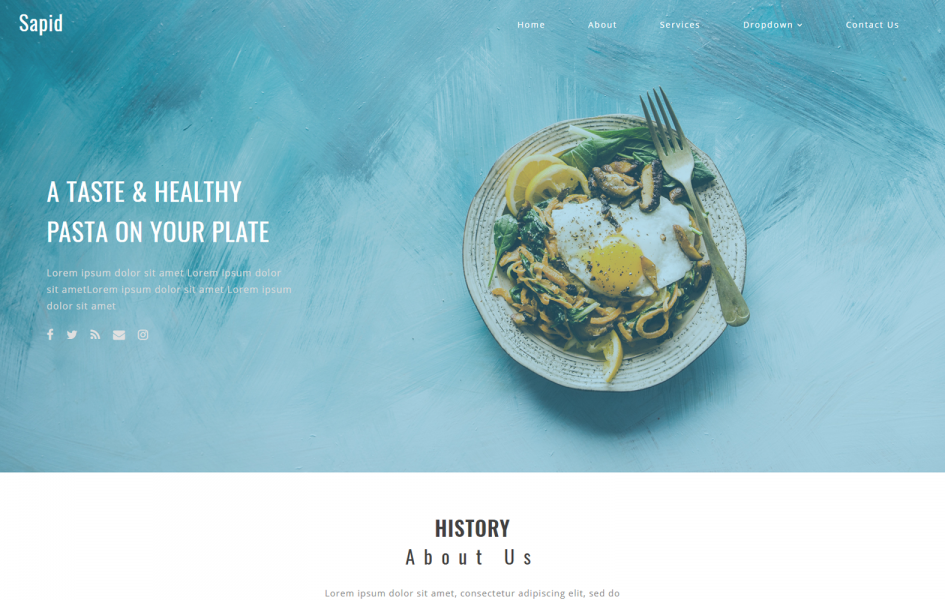 Sapid a Restaurant Category Bootstrap Responsive Web Template