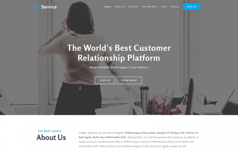 Service a Business Category Bootstrap Responsive Web Template