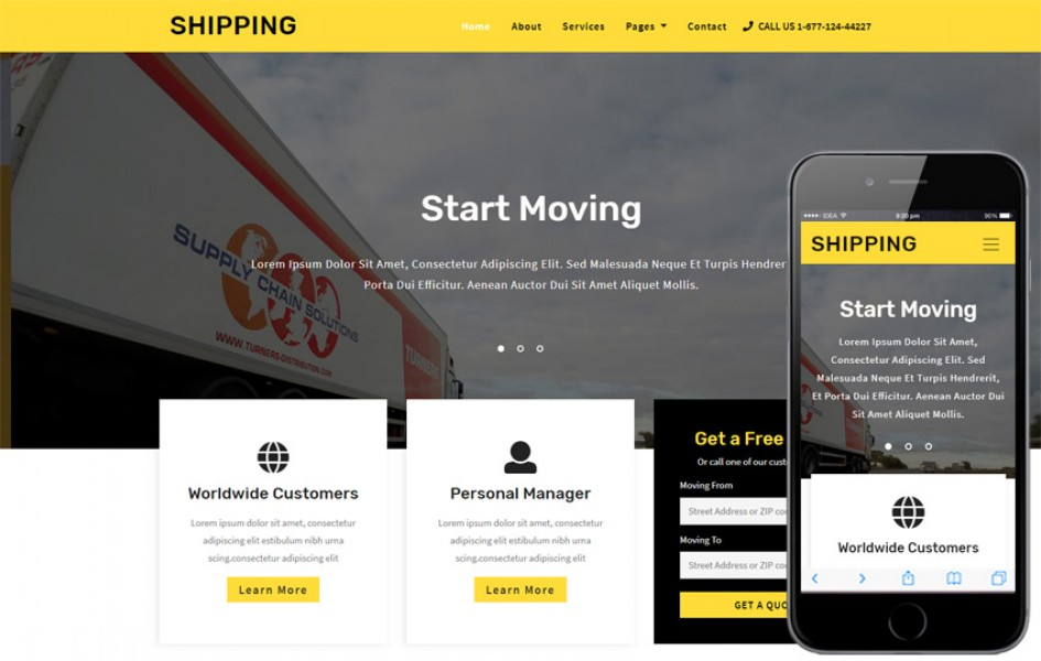 Shipping Transportation Category Bootstrap Responsive Web Template