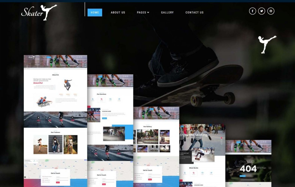 Skater a Sports Category Bootstrap Responsive Web Template