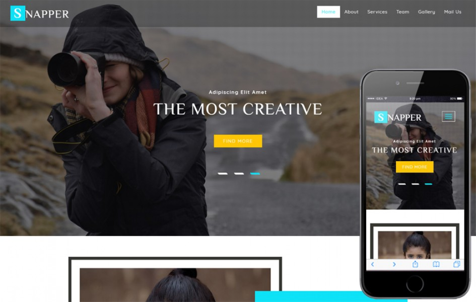 Snapper a Photo Gallery Category Bootstrap Responsive Web Template
