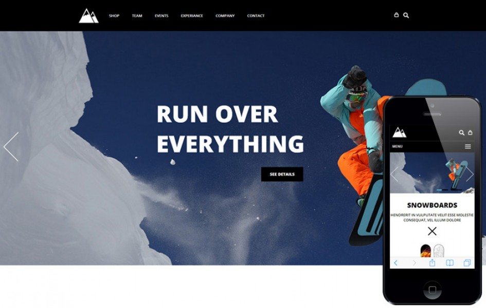 Snow Boarding a Flat E-commerce Bootstrap Responsive Web Template