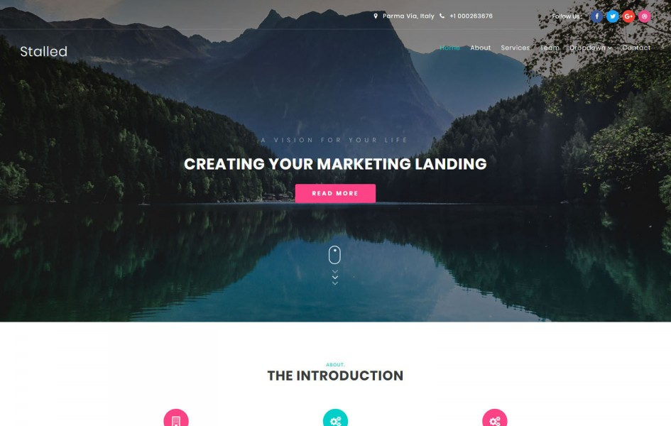 Stalled Business Category Bootstrap Responsive Web Template