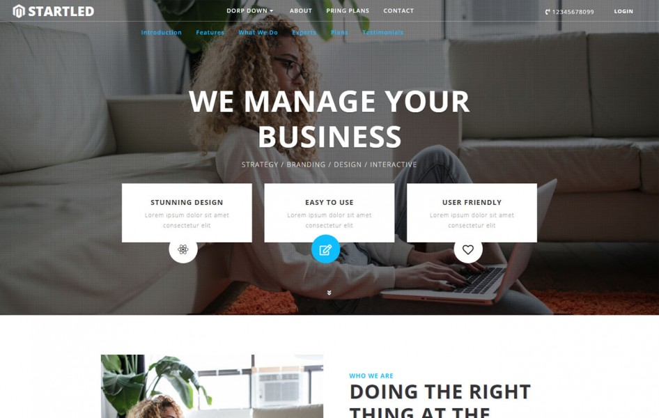 Startled Corporate Category Bootstrap Responsive Web Template
