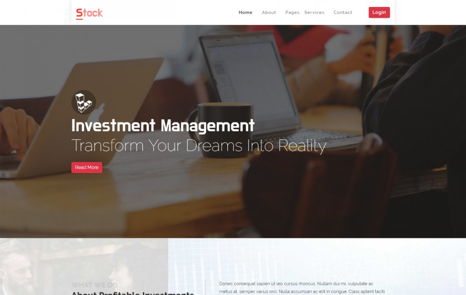 Stock Corporate Bootstrap Responsive Web Template