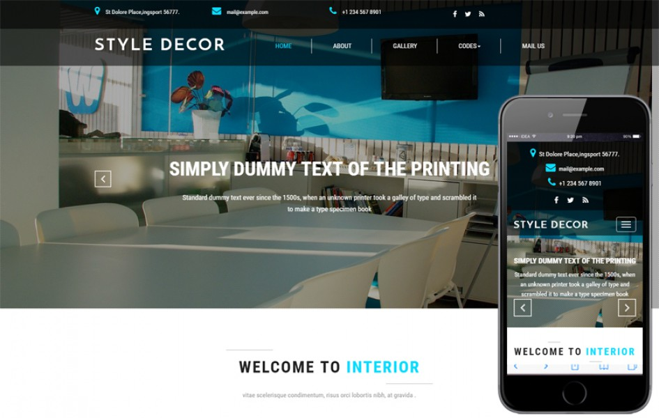 Style Decor an Interior Category Bootstrap Responsive Web Template