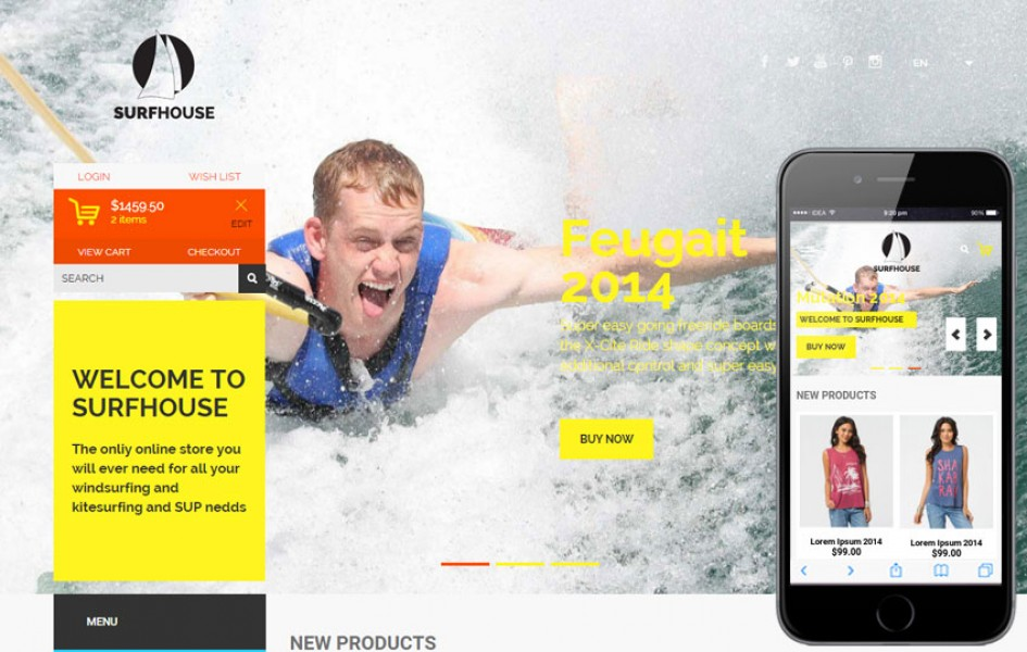 Surfhouse a Flat E-commerce Bootstrap Responsive Web Template