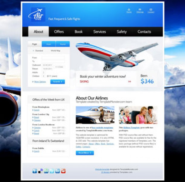 Airlines Company Templates