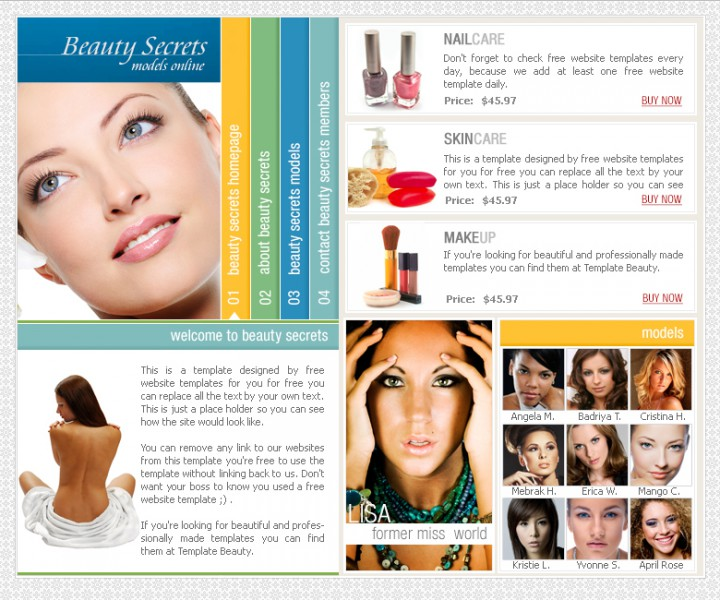 Beauty Secrets Templates