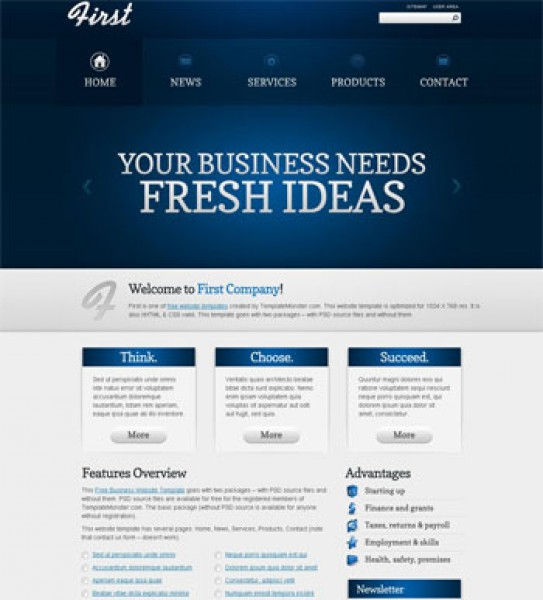 Business Blue Templates